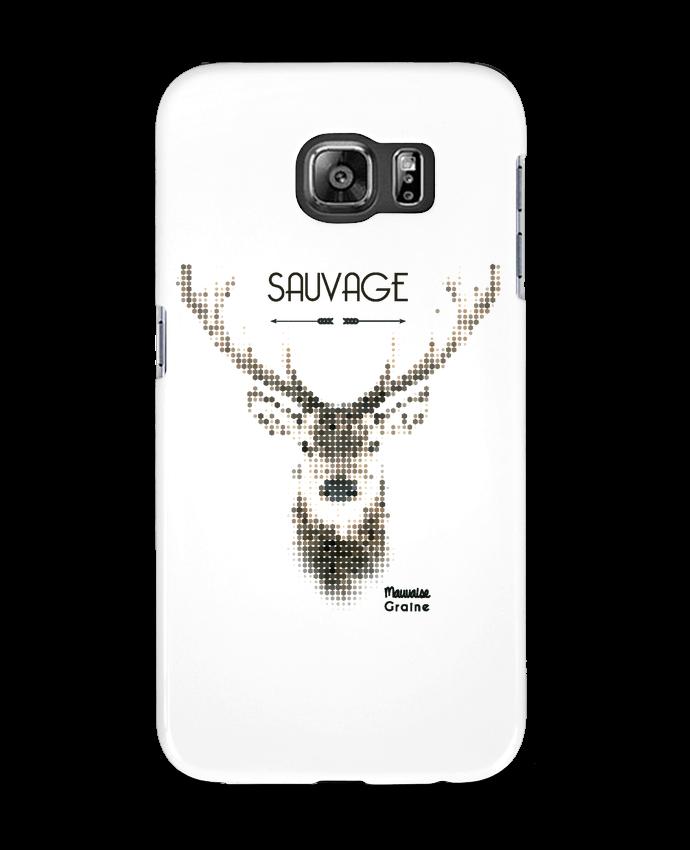 Coque 3D Samsung Galaxy S6 Tête de cerf sauvage - Mauvaise Graine