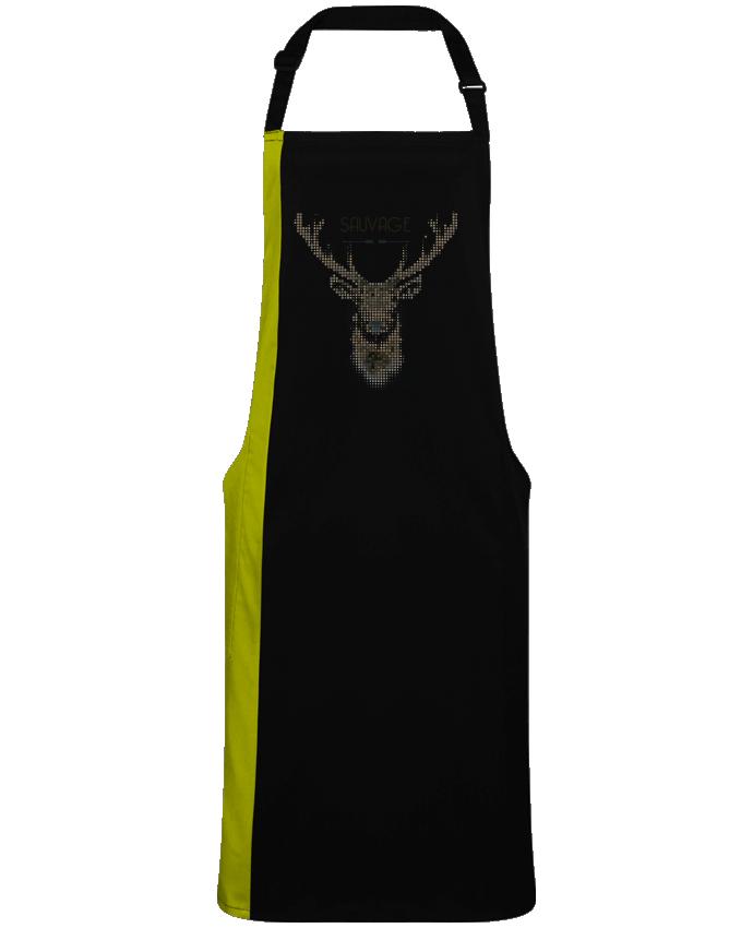 Tablier Long Bicolore Tête de cerf sauvage par  Mauvaise Graine