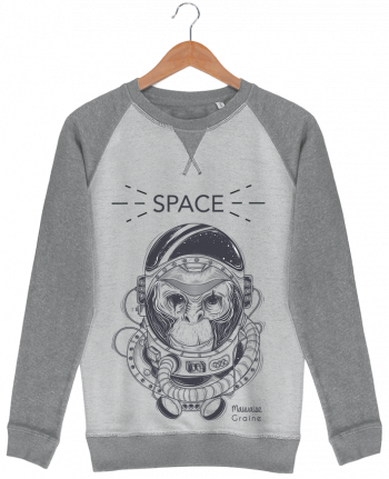 Sweat French Terry Monkey space par Mauvaise Graine