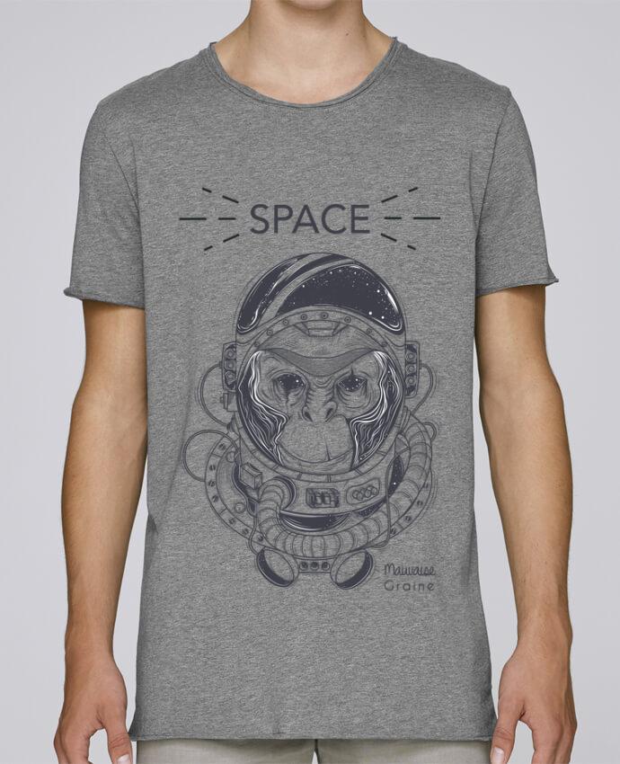 T-shirt Homme Oversized Stanley Skates Monkey space par Mauvaise Graine