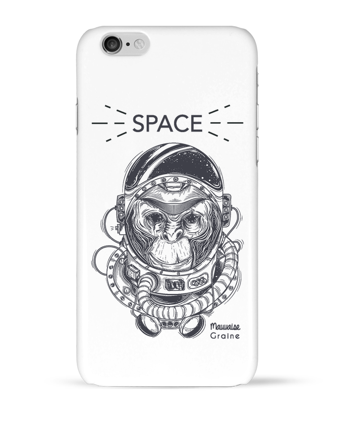 Coque 3D Iphone 6 Monkey space par Mauvaise Graine