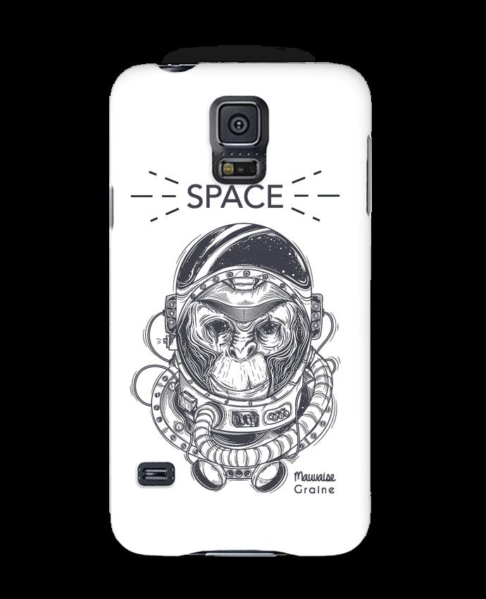 Coque 3D Samsung Galaxy S5 Monkey space par Mauvaise Graine