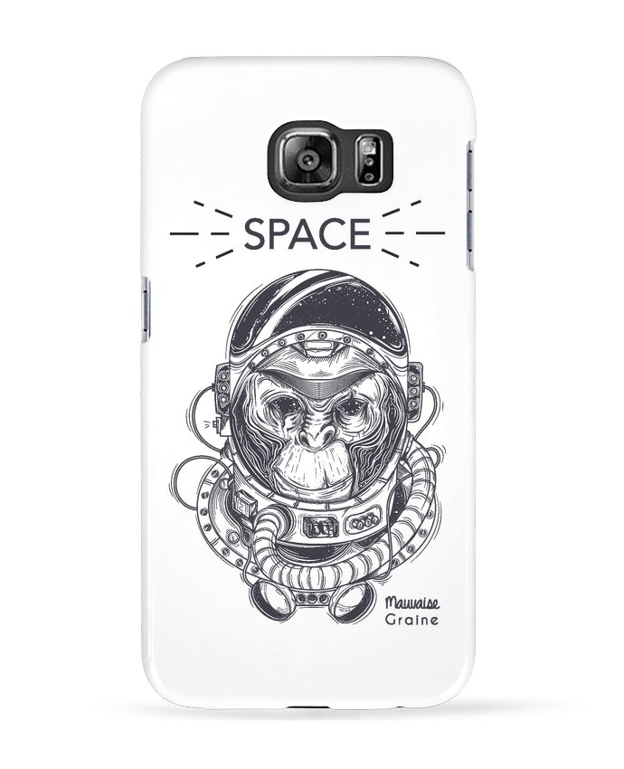 Coque 3D Samsung Galaxy S6 Monkey space - Mauvaise Graine