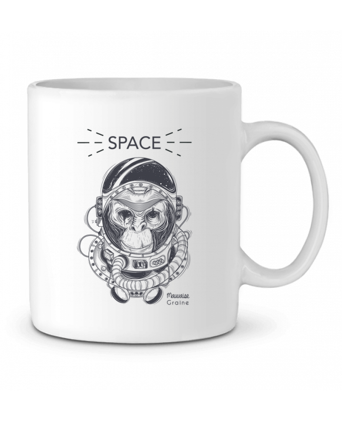Mug en Céramique Monkey space par Mauvaise Graine