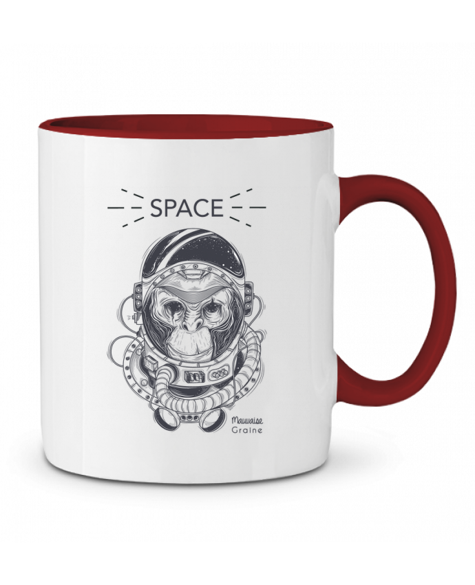 Mug en Céramique Bicolore Monkey space Mauvaise Graine