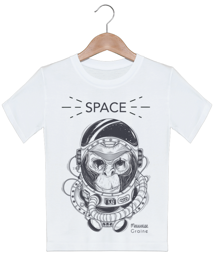 T-shirt garçon motif Monkey space Mauvaise Graine