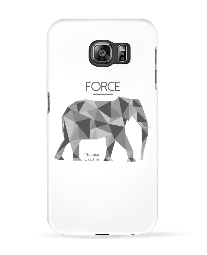Coque 3D Samsung Galaxy S6 Force elephant origami - Mauvaise Graine