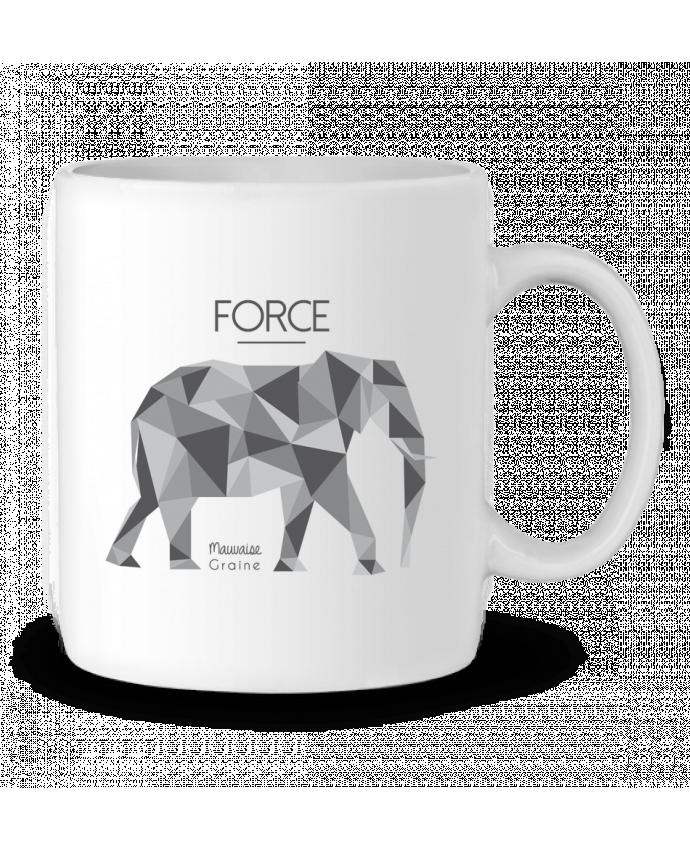 Mug en Céramique Force elephant origami par Mauvaise Graine
