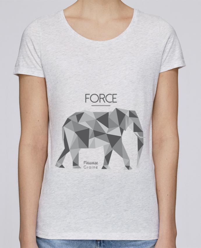 T-shirt Femme Stella Loves Force elephant origami par Mauvaise Graine