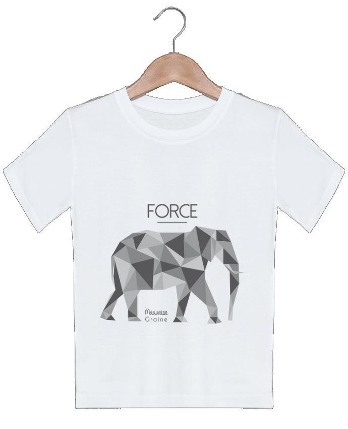 T-shirt garçon motif Force elephant origami Mauvaise Graine