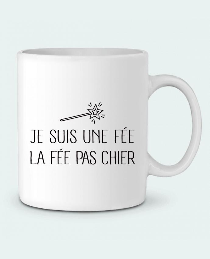 Mug en Céramique Je suis une fée la fée pas chier par Freeyourshirt.com