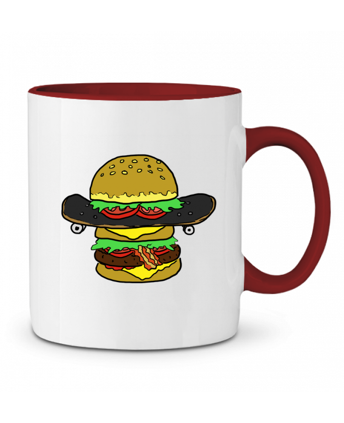 Mug en Céramique Bicolore Skateburger Salade