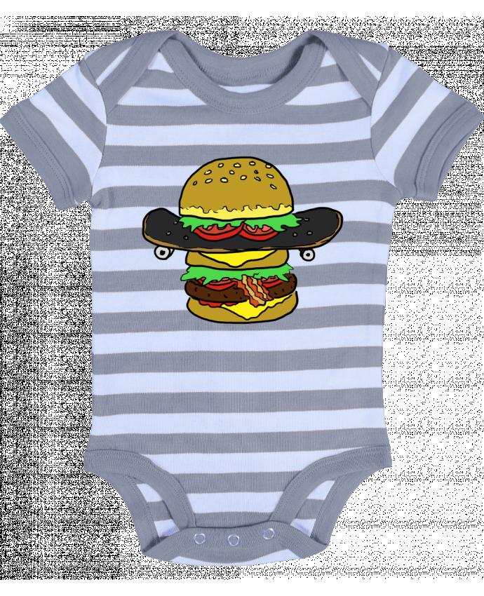 Body Bébé à Rayures Skateburger - Salade