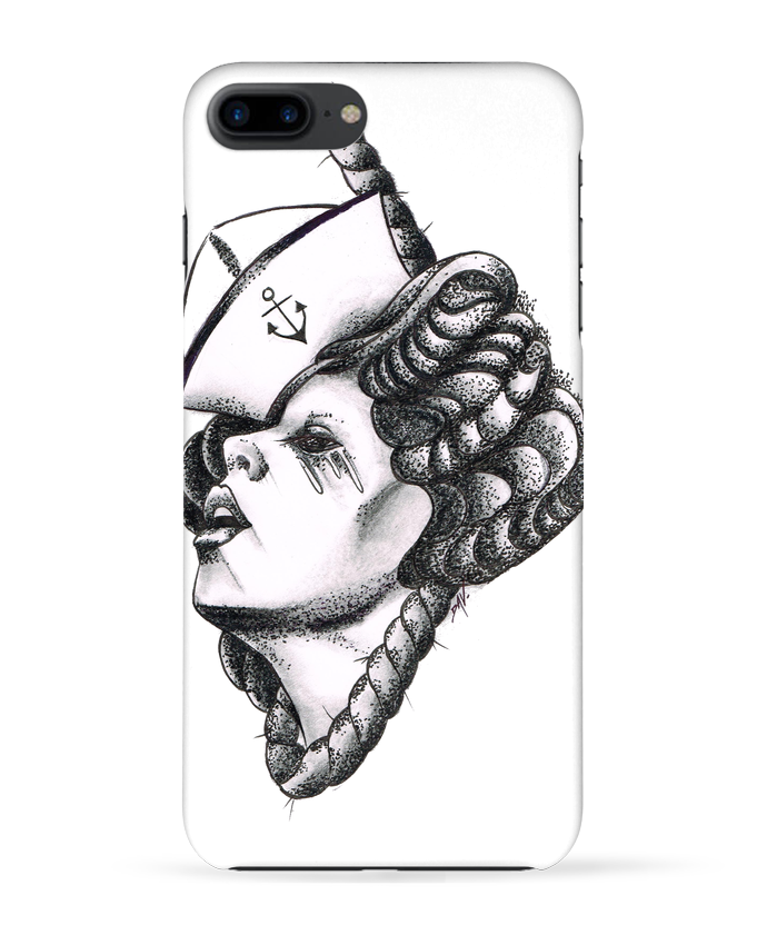 Coque 3D Iphone 7+ Femme capitaine par david