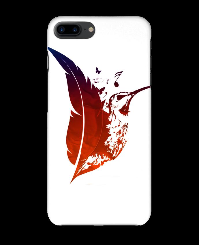 Coque 3D Iphone 7+ plume colibri par Studiolupi