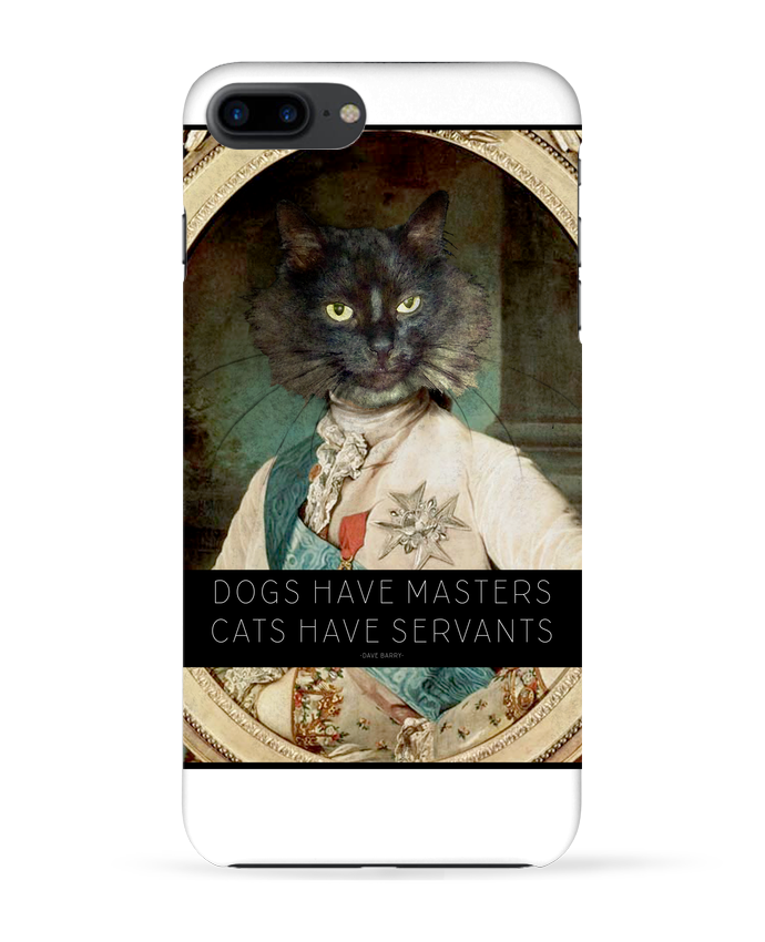 Coque 3D Iphone 7+ King Cat par Tchernobayle