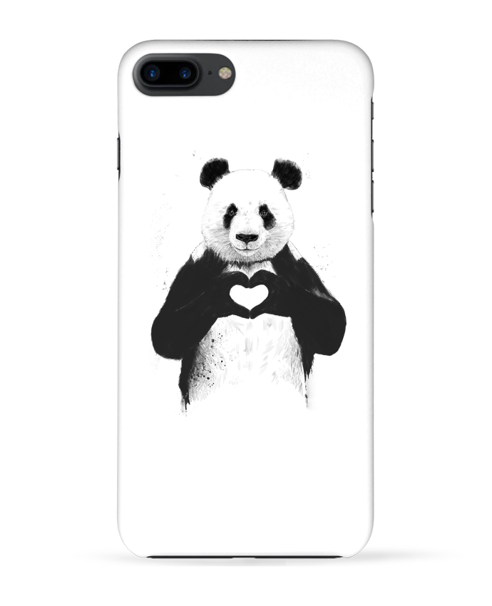 Coque 3D Iphone 7+ All you need is love par Balàzs Solti