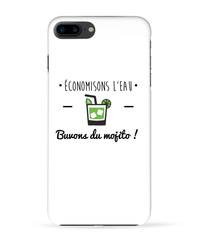 Coque 3D Iphone 7+ Économisons l'eau, buvons du mojito ! Humour , alcool , citations par Benichan