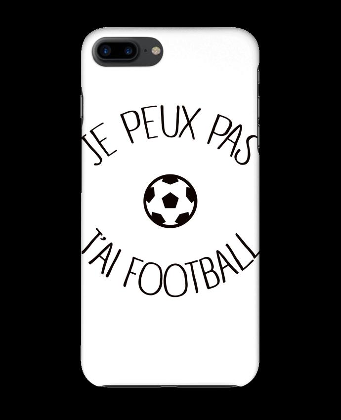 Coque 3D Iphone 7+ Je peux pas j'ai Football par Freeyourshirt.com