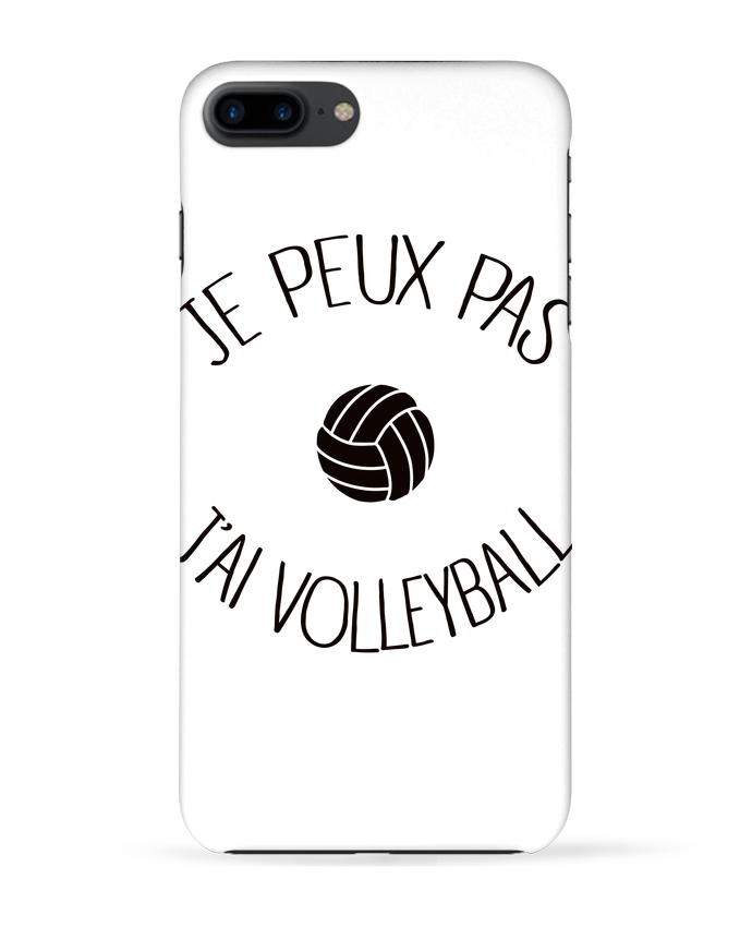 Coque 3D Iphone 7+ Je peux pas j'ai volleyball par Freeyourshirt.com