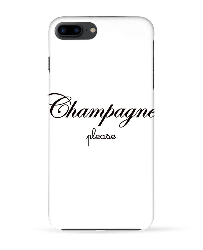 Coque 3D Iphone 7+ Champagne Please par Freeyourshirt.com