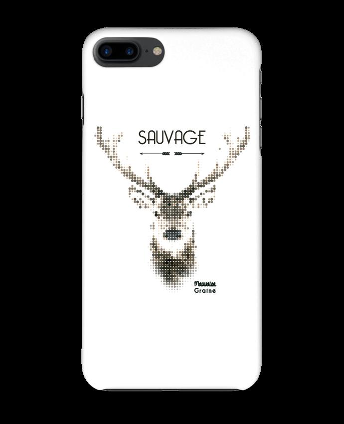 Coque 3D Iphone 7+ Tête de cerf sauvage par Mauvaise Graine