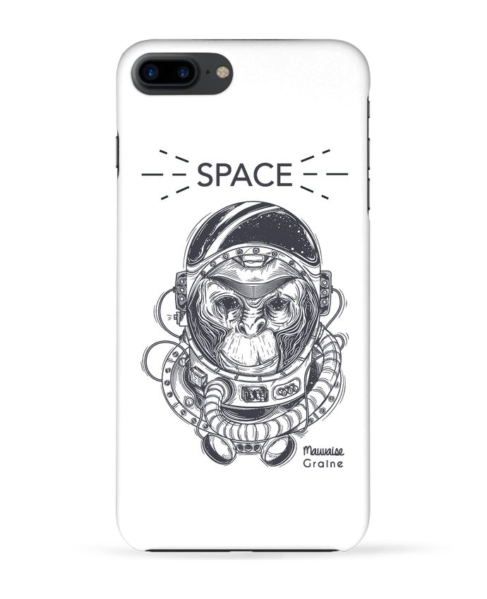 Coque 3D Iphone 7+ Monkey space par Mauvaise Graine
