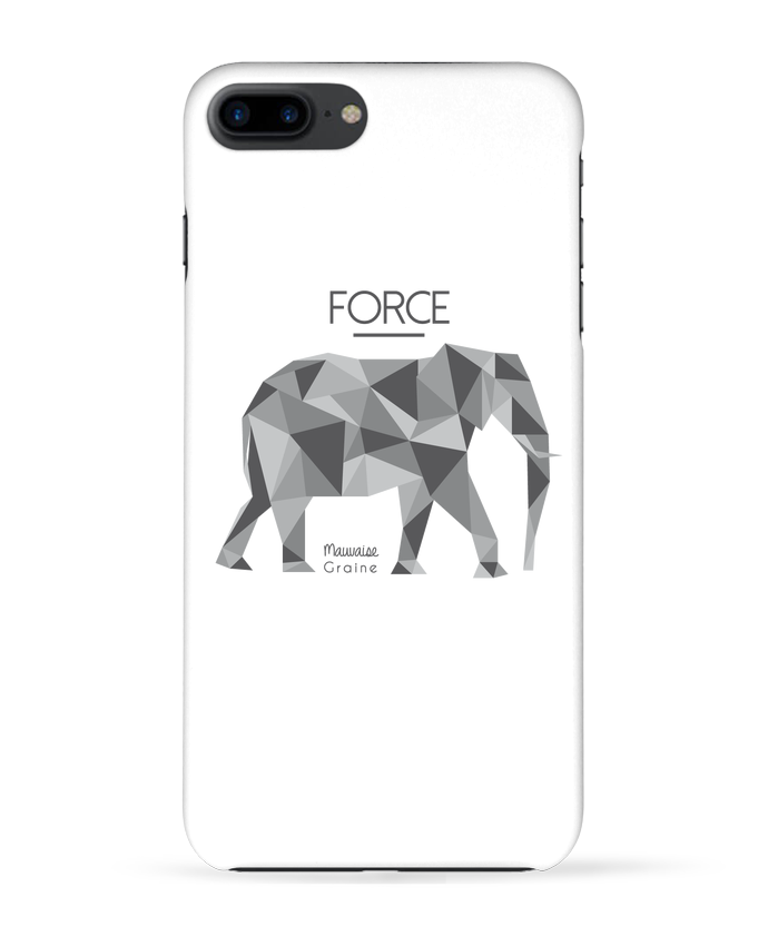Coque 3D Iphone 7+ Force elephant origami par Mauvaise Graine