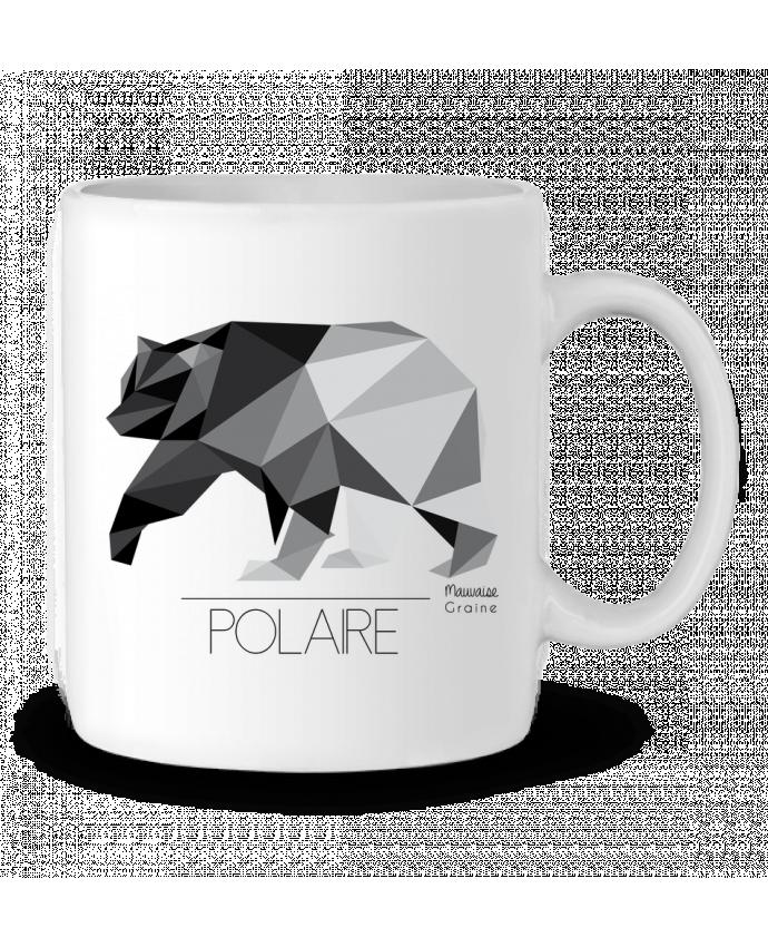 Mug en Céramique Ours polaire origami par Mauvaise Graine
