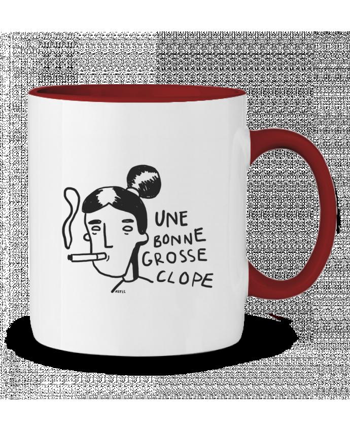 Mug en Céramique Bicolore CLOPE (une bonne grosse) RSTLL