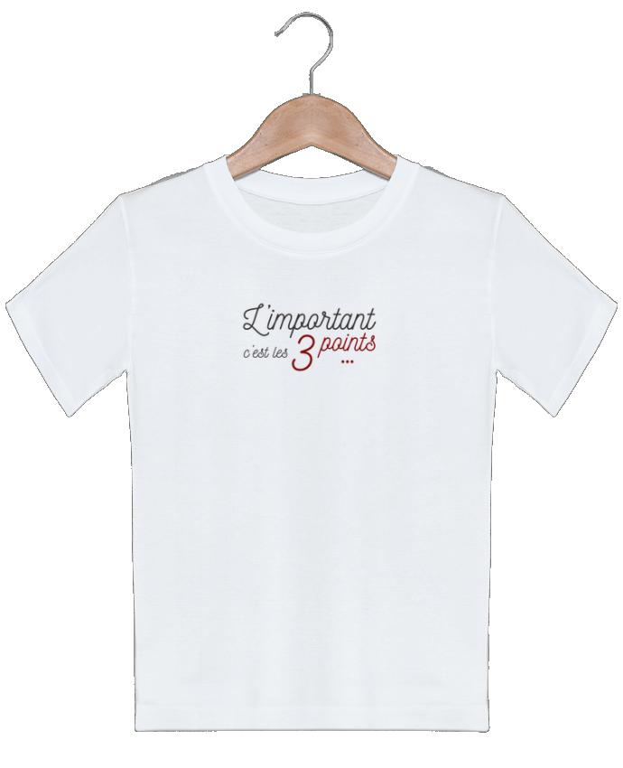 T-shirt garçon motif L'important c'est les trois points AkenGraphics