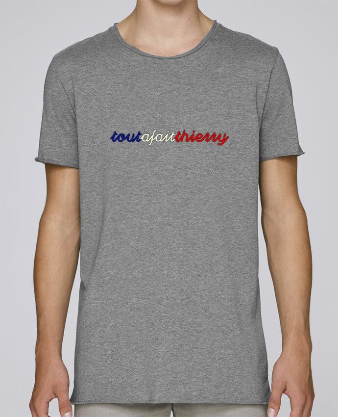 T-shirt Homme Oversized Stanley Skates Tout à fait Thierry - Bleu Blanc Rouge par AkenGraphics