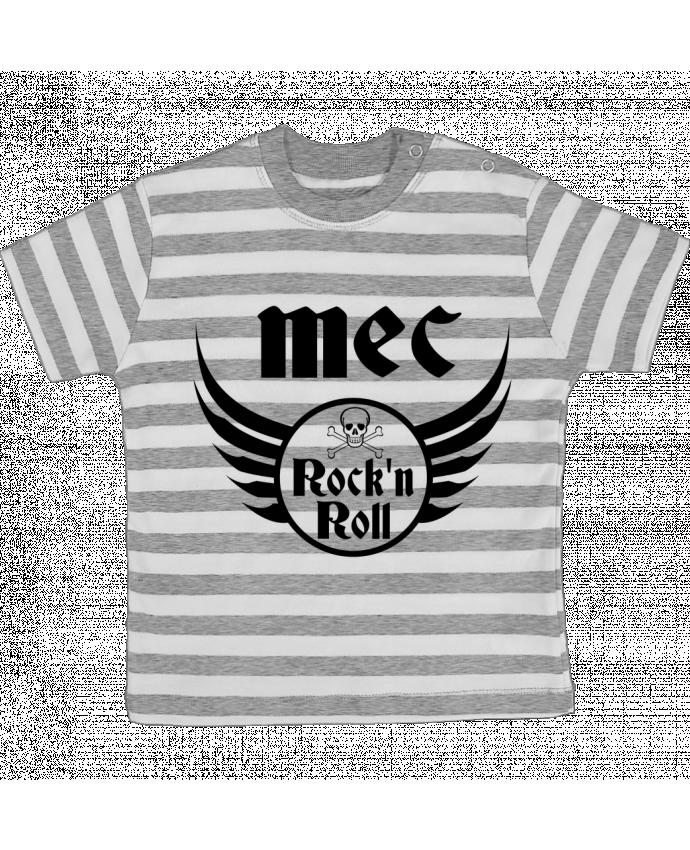 T-shirt Bébé à Rayures Mec rock'n roll par Les Caprices de Filles