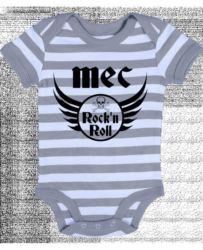 Body Bébé à Rayures Mec rock'n roll - Les Caprices de Filles