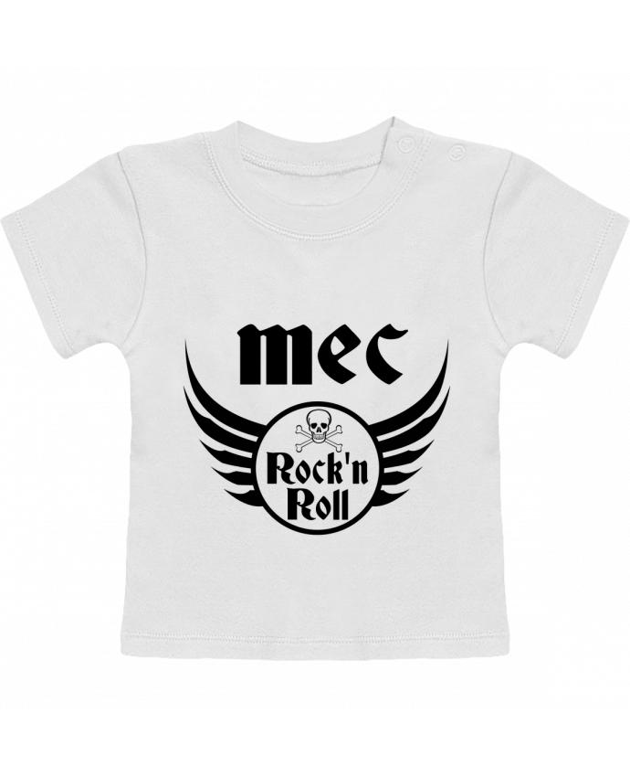 T-Shirt Bébé Manches Courtes Mec rock'n roll manches courtes du designer Les Caprices de Filles