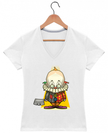 T-shirt Col V Femme 180 gr Choppy Clown par SirCostas