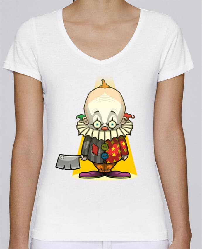 T-shirt Femme Col V Stella Chooses Choppy Clown par SirCostas