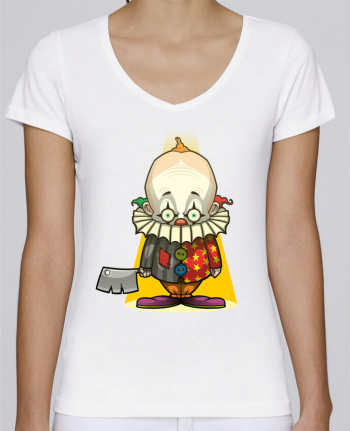 T-shirt Femme Col V Stella Chooses Choppy Clown par SirCostas