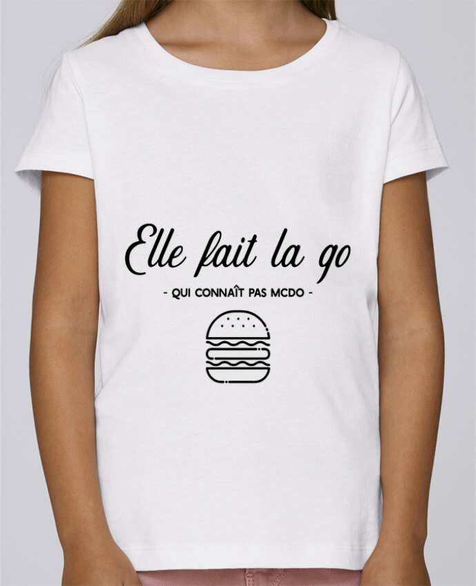 "T-shirt Fille Mini Stella Draws ""Elle fait la go"" par Original t-shirt"