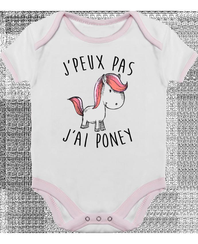 Body Bébé Contrasté Je peux pas j'ai poney par FRENCHUP-MAYO