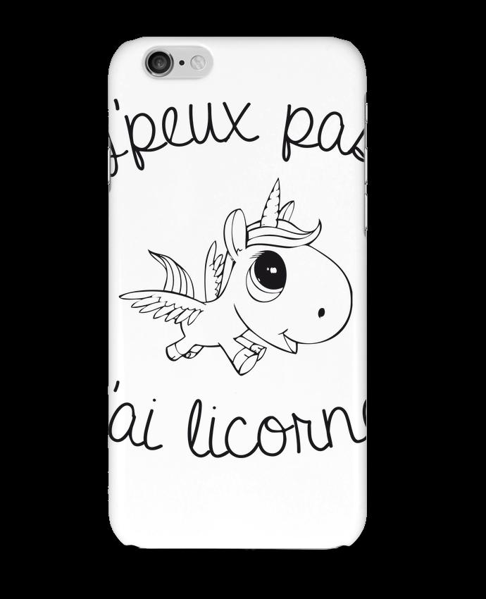 Coque 3D Iphone 6 Je peux pas j'ai licorne par FRENCHUP-MAYO