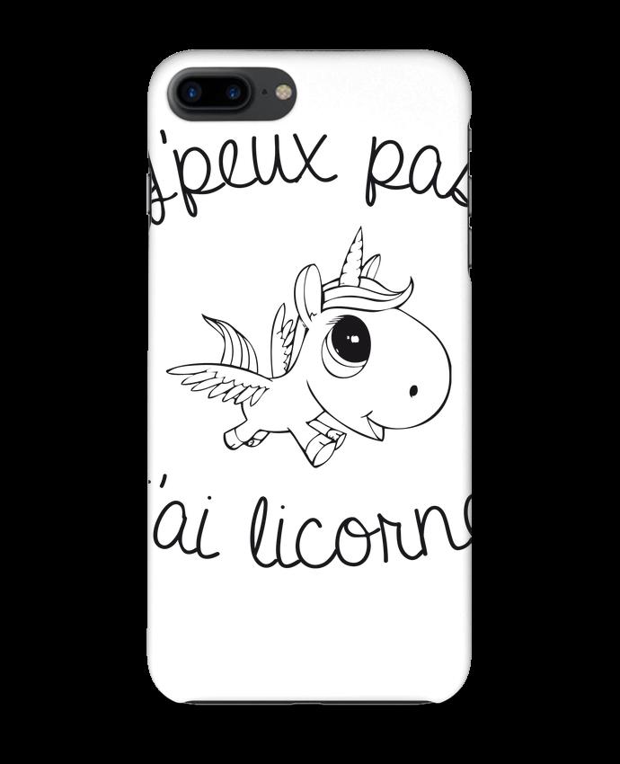 Coque iPhone 7 + Je peux pas j'ai licorne par FRENCHUP-MAYO
