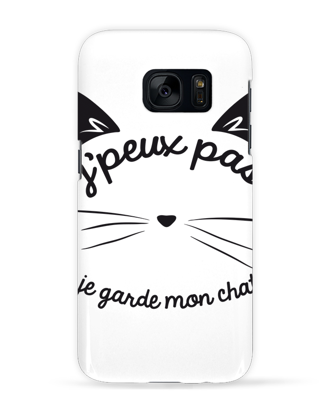 Coque 3D Samsung Galaxy S7 Je peux pas je garde mon chat par FRENCHUP-MAYO