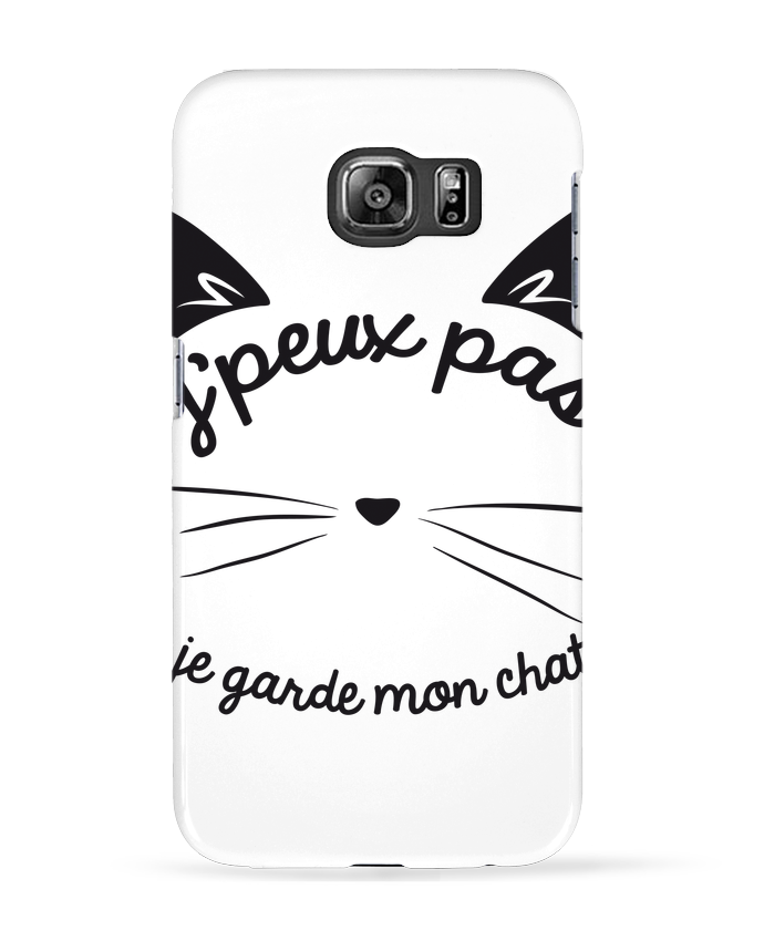 Coque 3D Samsung Galaxy S6 Je peux pas je garde mon chat - FRENCHUP-MAYO