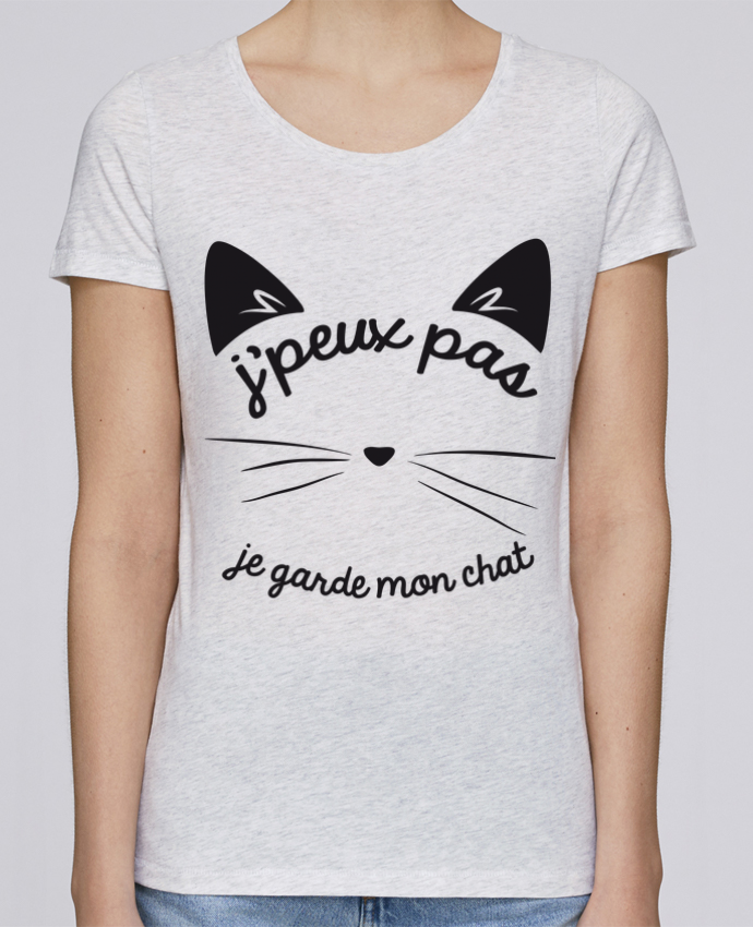 T-shirt Femme Stella Loves Je peux pas je garde mon chat par FRENCHUP-MAYO