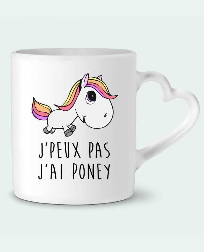 Mug Coeur Je peux pas j'ai poney par FRENCHUP-MAYO