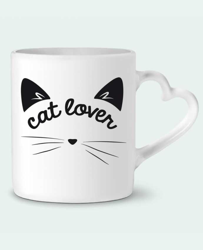 Mug Coeur Cat lover par FRENCHUP-MAYO