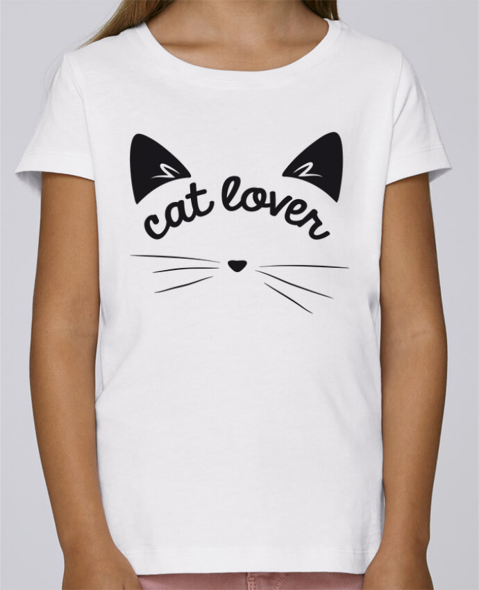 T-shirt Fille Mini Stella Draws Cat lover par FRENCHUP-MAYO
