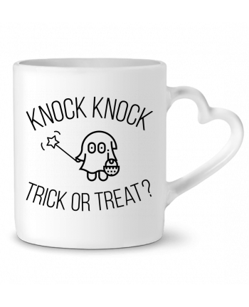 Mug Coeur Knock Knock, Trick or Treat? par tunetoo