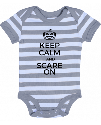 Body Bébé à Rayures Keep Calm and Scare on Pumpkin - tunetoo